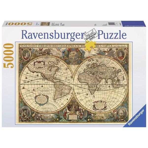 puzzle karta sveta Ravensburger puzzle (slagalice)   Antička karta sveta RA17411  puzzle karta sveta