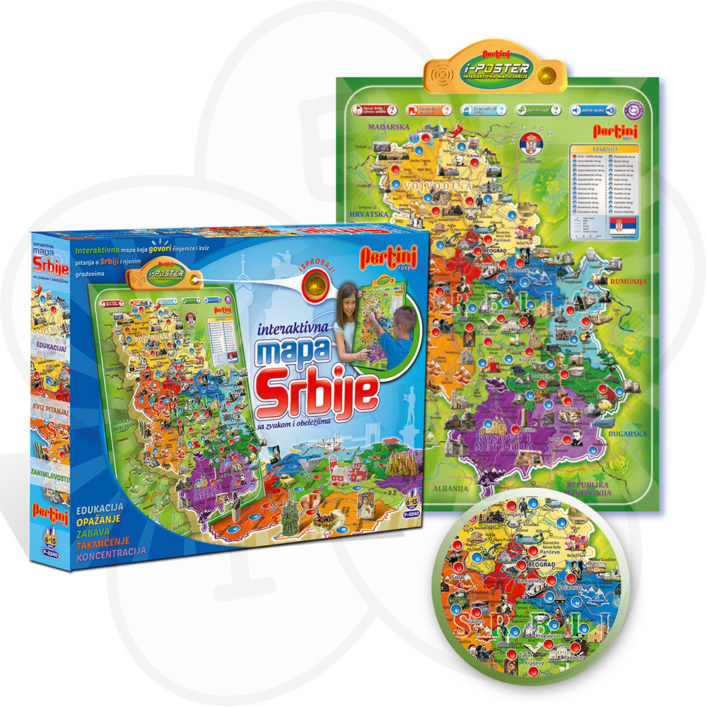 pertini mapa srbije cena Pertini igračka  elektronska mapa Srbije | Dečji sajt pertini mapa srbije cena
