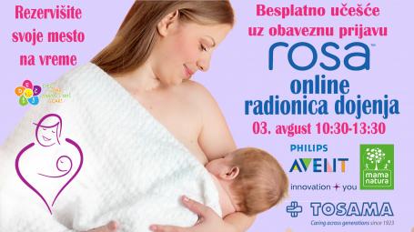 Prijavite se na ONLINE Rosa radionicu dojenja!