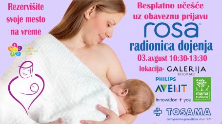 Prijavite se na Rosa radionicu dojenja za druženje uživo u Galeriji BW