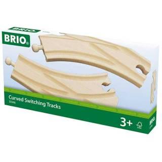 Delovi za prugu - zakrivljeni prekidački pravci Brio BR33346
