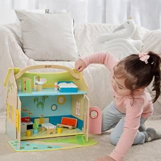 Kućica za lutke - prenosivi kofer 22018