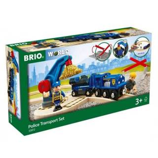 Policijski voz sa šinama i dodacima Brio BR33812