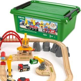 Železnički set za prevoz tereta Deluxe Brio BR33097