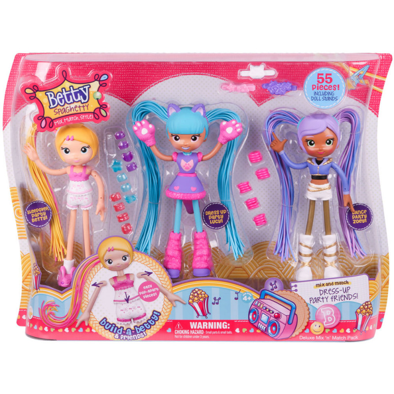Lutka Betty Spaghetty S1 Deluxe Mix N Match Pack, 59002