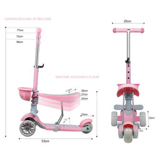 Dečji trotinet Soft model 653 - roze