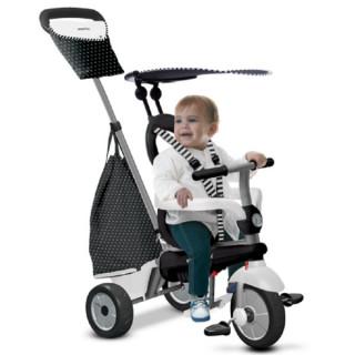 Tricikl Smart Trike Vanilla 4u1 Crno/Beli 6652400