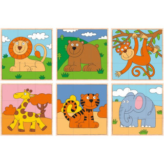 Drvene kocke egzotične životinje 93056