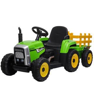 Dečji traktor sa prikolicom na akumulator model 261 ZELENI