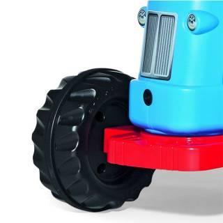 Traktor na pedale sa prikolicom plavi 620012