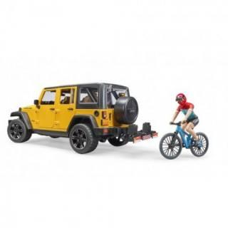 Jeep Wrangler rubicon sa biciklistom 025434