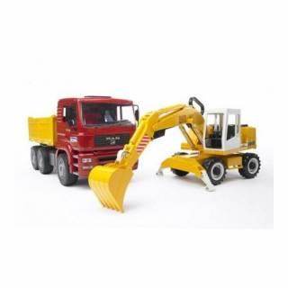 Kamion MAN sa Rovokopačem Liebherr 027513