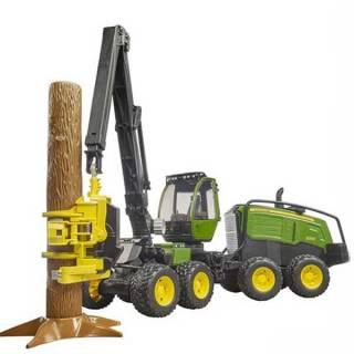 Kombajn John Deere sa kašikom za drva 021351