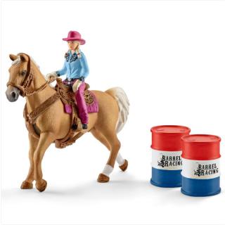 Kaubojka na konju sa bacvama 41417