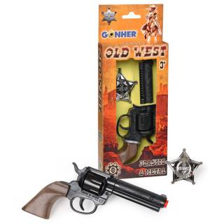 Divlji zapad set pištolj i značka 24627