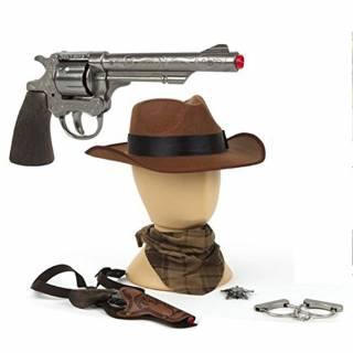 Kauboj set oružja sa šeširom 24607