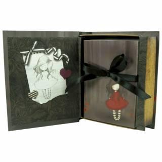 Kutija ukrasna sa karticama za poruke Poppy Wood 238EC06