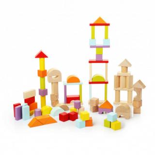 Drvene kocke blokovi Cubika 80 komada 13821