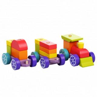 Drveni vozić duga Cubika 15 elemenata 12923