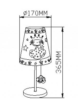 Stona lampa-princeza