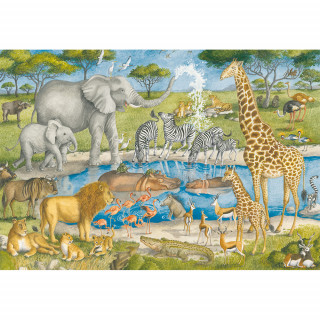 Ravensburger puzzle (slagalice) - Velike podne puzle divlje životinje, RA05542