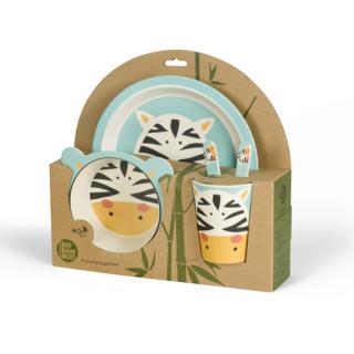 Set za hranjenje od bambusa Zebra