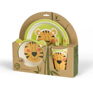 Set za hranjenje od bambusa Tigar
