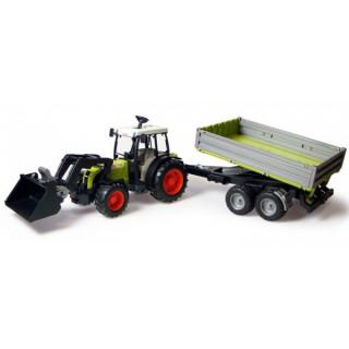 Traktor Bruder CLAAS sa prikolicom i utovarivačem Bruder 019983