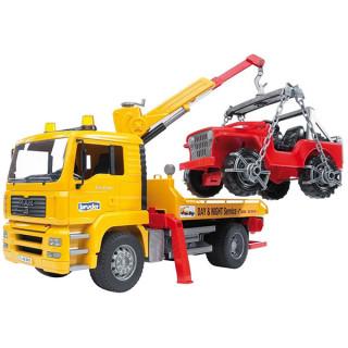 Kamion sa džipom Bruder MAN servis 027506
