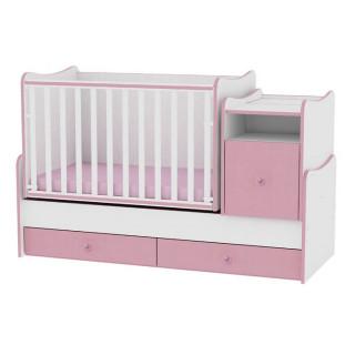 Drveni Krevetac Trend Plus - White-Pink