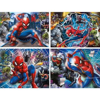 Puzzla 4 u 1 Spiderman Clementoni, 21410