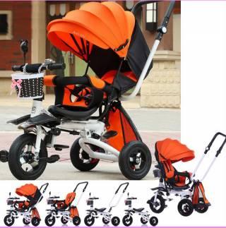 Tricikl za decu Playtime,  model 413-1 RELAX  sivi