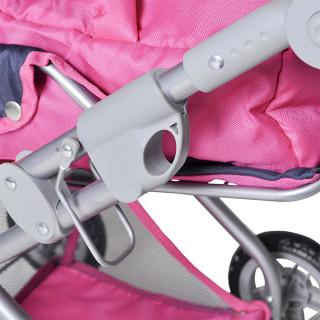 Kolica za lutke Knorrtoys Kyra Flower Power pink 61866