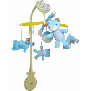 Muzička  vrteška Biba Toys veseli medvedići, 6330010