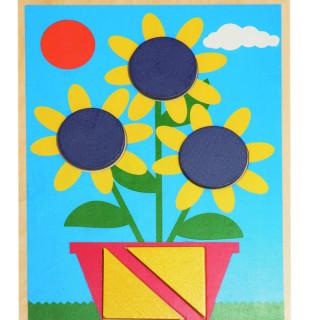 Drvena kutija sa 10 šablona za sklapanje slika, 90605
