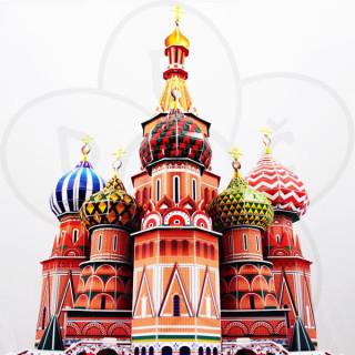 3D puzzle Katedrala Svetog Basilija 58096