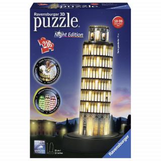 Ravensburger 3D puzzle (slagalice) - Toranj u Pizi noćno izdanje , RA12521