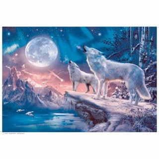 Ravensburger puzzle (slagalice) - Magični vukovi sa gliterom, RA13600