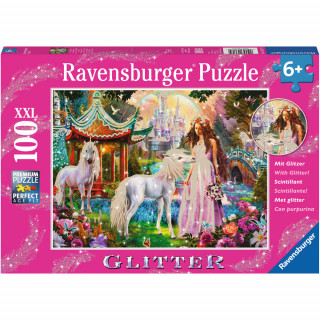 Ravensburger puzzle (slagalice) - Magična šuma puzle sa gliterom, RA13617