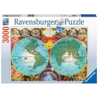 Ravensburger puzzle (slagalice) - Mapa sveta, RA17074