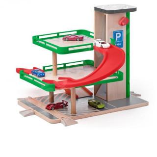 Drvena garaža sa liftom i Siku autićima 93070