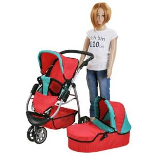 Kolica za lutke Cico Red Green 90445