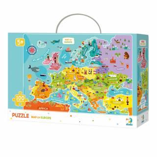 Puzzla mapa Evrope COR124