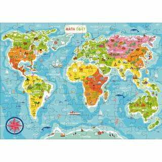 Puzzla mapa sveta COR123