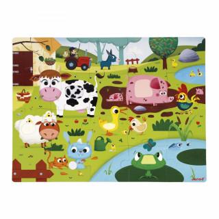 Puzzle sa teksturom Farma sa životinjama J02772