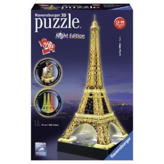 Ravensburger 3D puzzle Ajfelov toranj noću RA12579