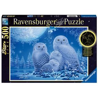 Ravensburger puzzle Sove na mesečini RA16595