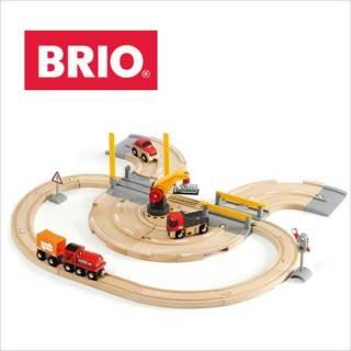 Set pruga, put i drumska dizalica Brio BR33208