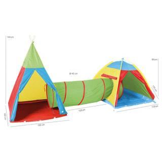 Tunel i dva šatora Knorr Toys 55200
