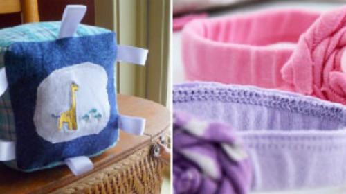 Napravite praktične stvari od stare bebine garderobe